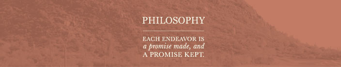 Pinnacle Development Group Philosophy : Each endeavor is a promise made, and a promise kept.